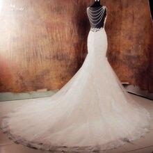 RSW1015 Backless Blush Pink Wedding Dresses Brautkleid Robe De Mariage