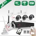 Новый Список! 4CH NVR Беспроводной Безопасности CCTV Система 1 ТБ HDD и P2P 720 P HD Открытый WI-FI Мини Ip-камера H.264 Комплект Видеонаблюдения
