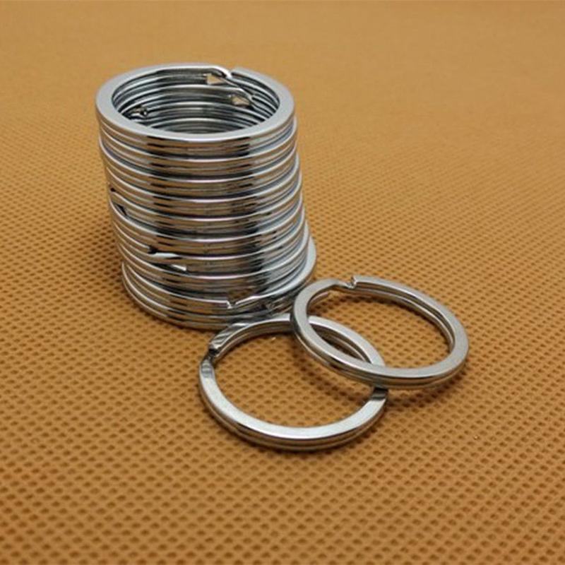 LNRRABC 10 Pcs Metal Rings Keyring Keychain Accessories