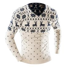 Men'S Fashion Animal Print Sweater Men Leisure Slim Pull Homme O-Neck Long-Sleeved Sweater Solid Sweater Sweater Men XX