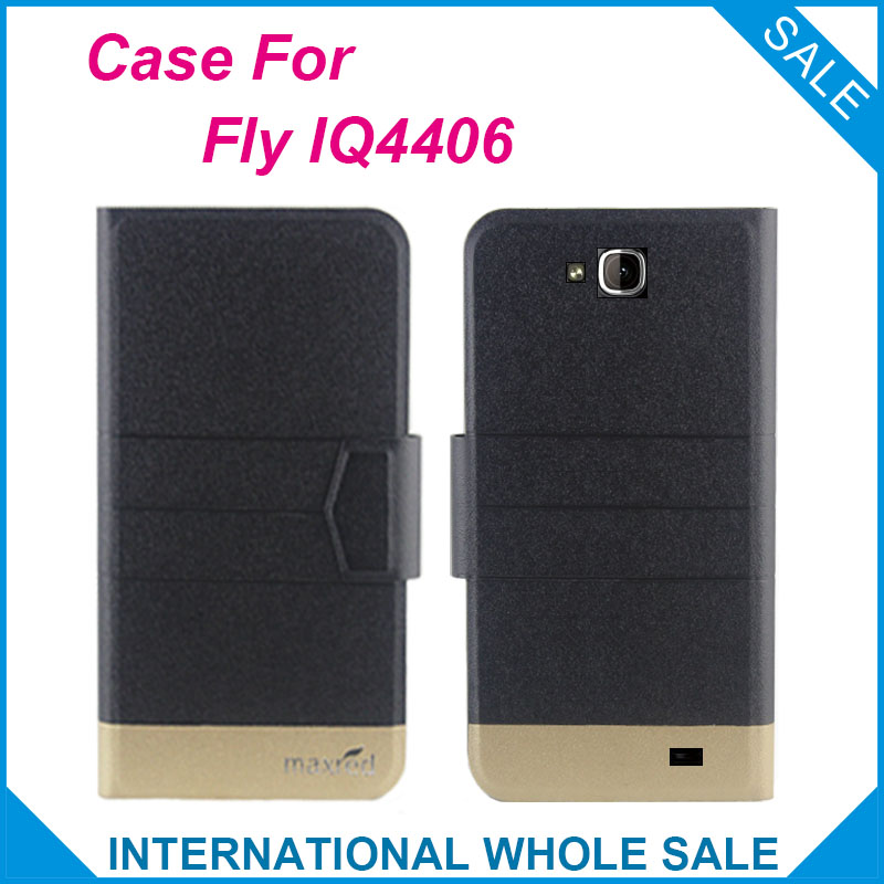 5 Colors Hot! Fly IQ4406 Case High quality Top quality new style flip leather case For Fly IQ4406 ERA Nano 6