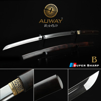 Exquisite Ebony True high end decorative horns samurai sword. Collect real sword. Sharp folded steel katana