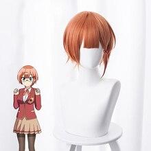 Anime Bokutachi wa Benkyou ga Dekinai Rizu Ogata Orange Short Synthetic Hair Cosplay
