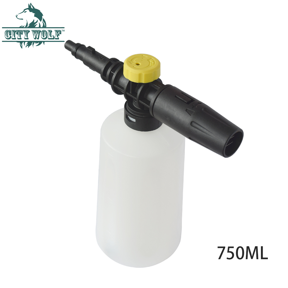 Image 4 - City wolf high pressure washer foam cannon for Huter W105 AR W105 G W105 GS W105 QC W105 P(old) W105 QD W135 AR car accessories-in Car Washer from Automobiles & Motorcycles