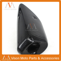 Motorcycle Exhaust Pipe Heat Shield Carbon Fiber Cover For MT 07 MT07 MT 07 FZ 07