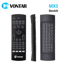 Vutar MX3 Pro luz de fondo 2,4G teclado inalámbrico Control remoto IR aprendizaje Fly Air Mouse para X92 X96 Android TV Box(China)
