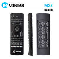 VONTAR MX3 Pro Backlight 2.4G Wireless Keyboard Remote Control IR Learning Fly Air Mouse For X92 X96 Android TV Box