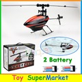 With 2 Battery WLtoys V922 RC Remote Control Helicopter 6CH 3D Gyro Single Blade 2.4GHz Radio 2014 New Electronic Toys