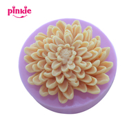 Pinkie Chrysanthemum Flower Molds Silicone Candy Chocolate Mold Baking Tools Kitchen Accessories Decorations For Cakes moldes