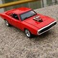 Regalo 16.5 cm 1:32 creativo Dodge Charger Super aleación modelo de coche deportivo acustóptica tire hacia atrás de juego juguete de niño