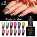 Saviland 1pcs 10ml Diamond Bright Platinum LED UV Nail Gel Polish Long-lasting Soak-off Vernis Fingernails Glitter Decoration