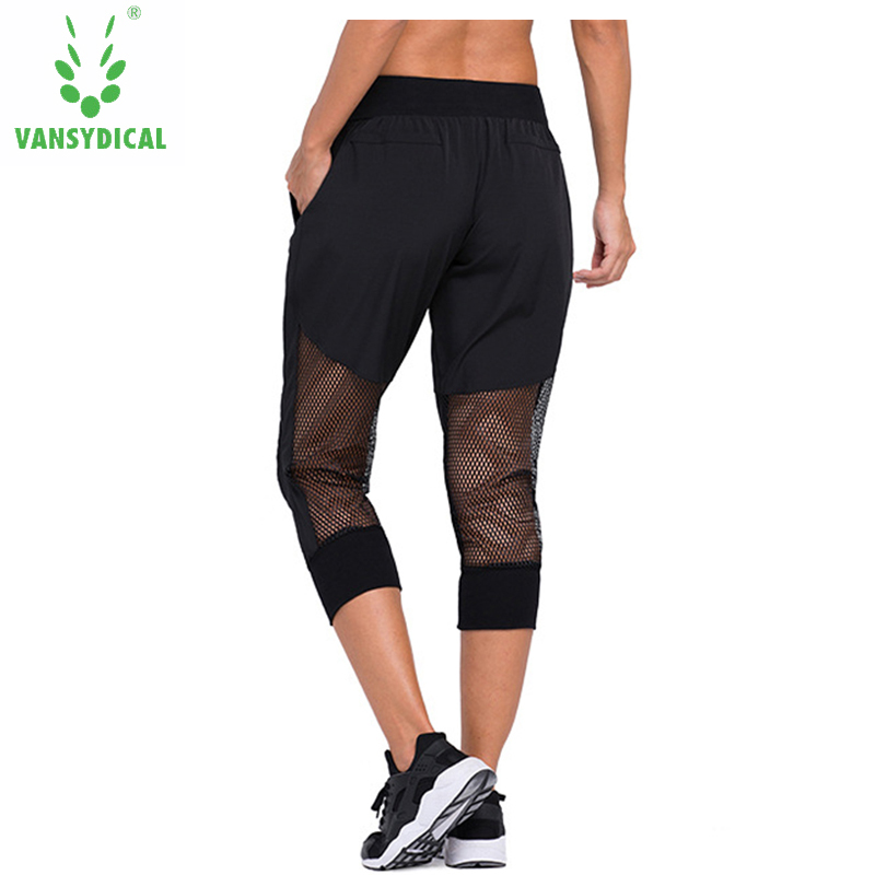 ZOOB MILEY Womens Yoga Pants Calf Length Breathable Sports Running Compression Tights Fitness Gym Leggings Workout Trousers