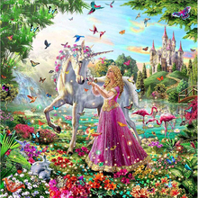unicorn diamond Embroidery diy painting mosaic diamant 3d cross stitch pictures H779