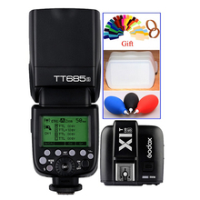 Godox tt685 tt685s 2.4g wireless hss 1/8000 s flash speedlite + trasmettitore for sony a77ii a7rii a7r a99 a58 x1s-t a6000 a6300