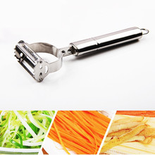 2 in1 Stainless Steel Potato Grater Julienne Peeler Kitchen Accessories Vegetables Double Planing Tools