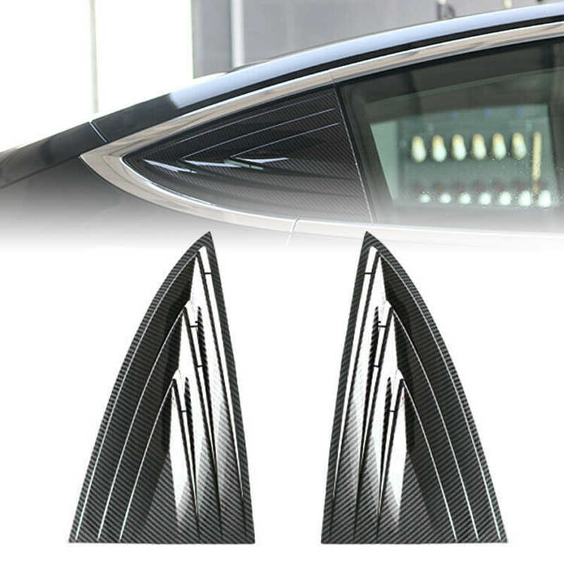 Side Door Rear Window Blinds Frame 2Pcs For Tesla 2018-2019 Model 3 Trimming Accessories Exterior Parts