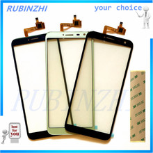 RUBINZHI Phone Touch Screen Digitizer Front Glass Touch Panel Sensor For Oukitel C8 C8 4G Touchscreen Replacement +tape