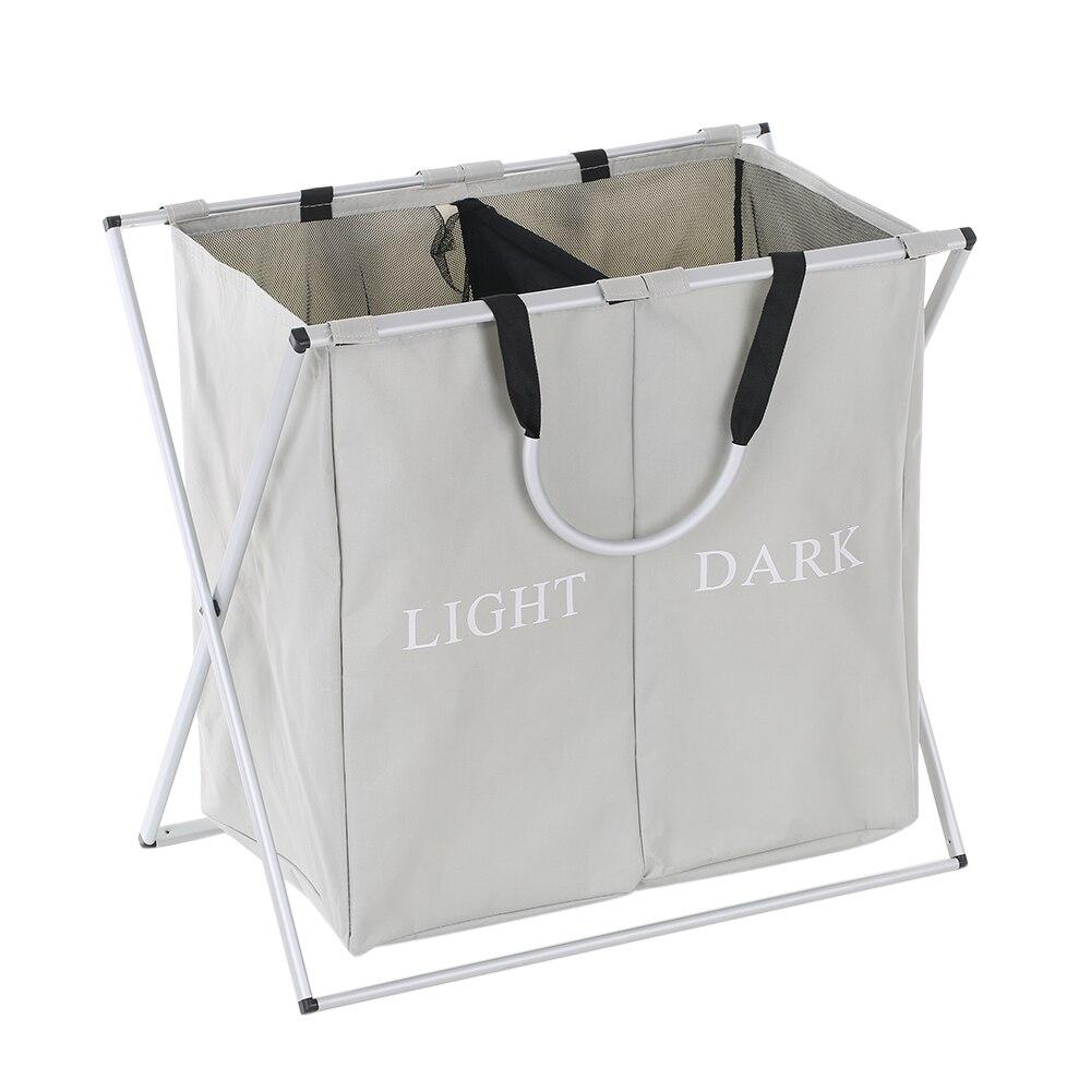 Foldable Oxford Laundry Basket Box Hamper Mesh Drawstring