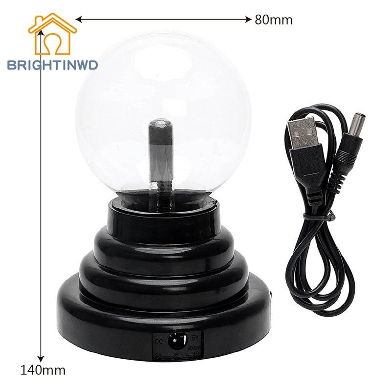 BRIGHTINWD 3 Inch Usb Magic Electrostatic Ion Ball Lights Flash Ball Magic Magic Atmosphere Ion Lamp Gift Led Night Light