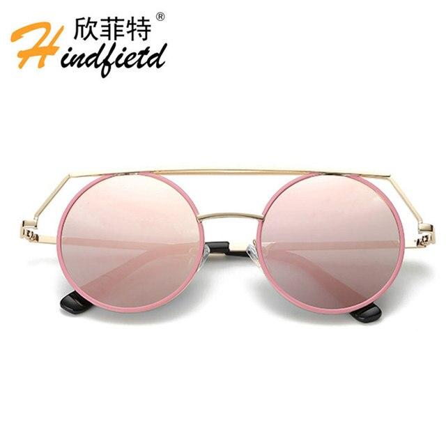 Estructura de Metal gafas de Sol Redondas Mujeres Señoras Fanous ...