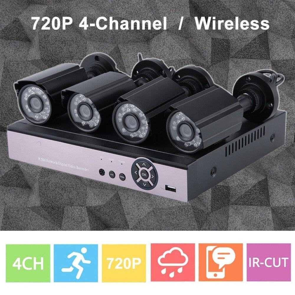 4 pièces 720 P AHD Caméras 4CH 1080N HDMI DVR 100 W AHD Kit de Surveillance de Réseau Extérieur Webcam Système de Sécurité À La Maison