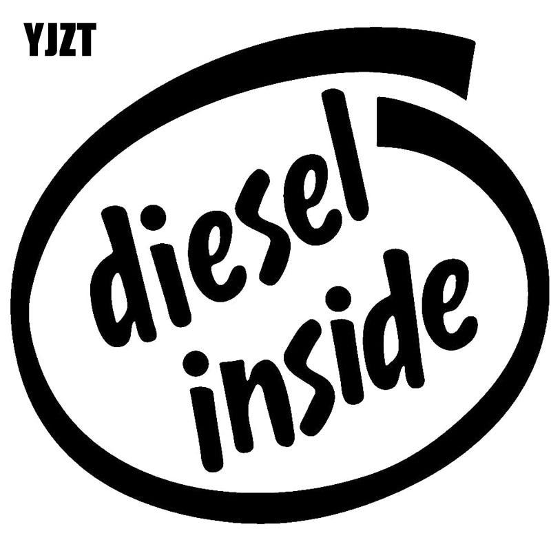 YJZT 15.5Х14.3см дизель внутри виниловая наклейка забавный черный/Серебряный автомобиль наклейка автомобиль-стайлинг С8-0695