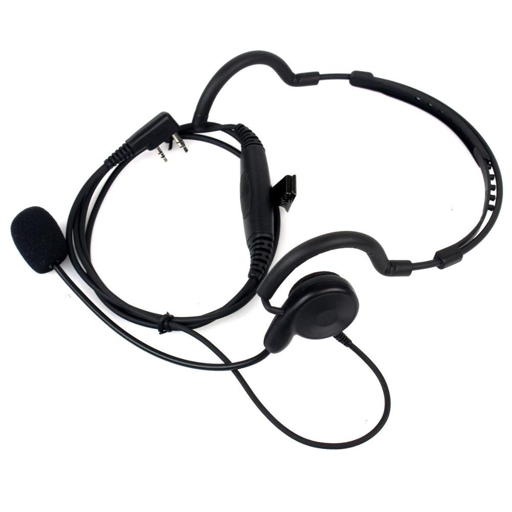 2 Pin Earpiece Mic PTT Headset For Kenwood TK-270 TYT Baofeng UV5R 5RPLUS Radio