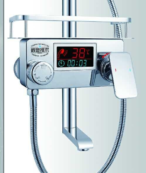 Digital display shower mixer with shower self Bathroom digital bathroom shower faucet shower panel controller with shelf dmx512 digital display 24ch dmx address controller dc5v 24v each ch max 3a 8 groups rgb controller