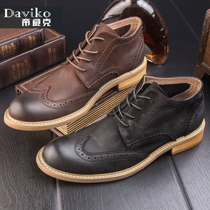 Boots male Korean version of the winter men's boots leather casual high help England round head Bullock lace boots tide DD805 the history of england volume 3 civil war