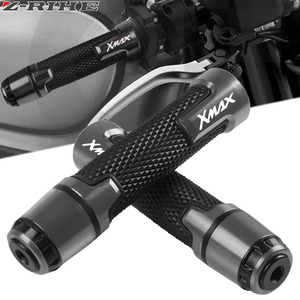 Ручки для мотоцикла с логотипом XMAX, Нескользящие ручки руля скутера, ручки руля для Yamaha xmax 125 250 300 X MAX 400