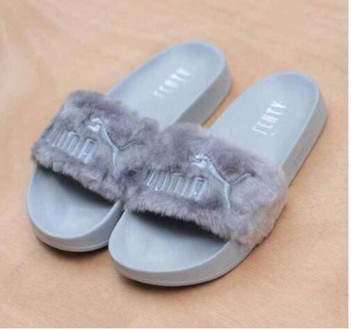 2018 PUMA X Rihanna Fenty Leadcat Fur Slide Women Shoes Classic Light  Weight Couple Beach Slippers Indoor Shoes Size 36-44 b98566c70fc