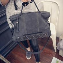 DALFR Womens Bag Pu Leather Women Handbags Ladies Fashion Shoulder Bag Rivet Luxury Handbags Women Designer Bags