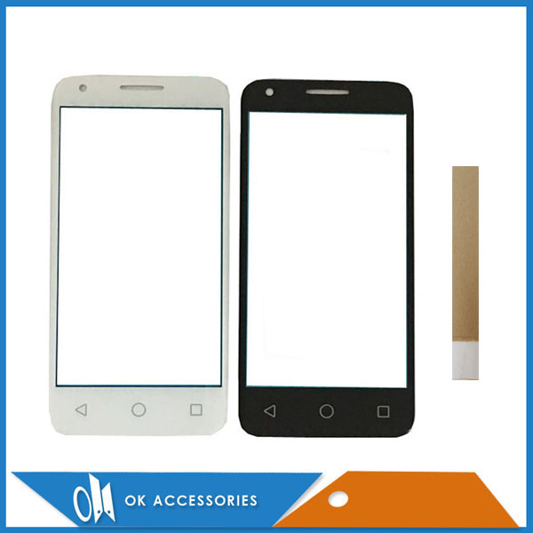 Black White Color For Alcatel One Touch Pixi 3 4.5 <font><b>4027D</b></font> 4027X 5017 5017E OT4027 VF7795 Speed 6 Touch Screen Digitizer With Tape image