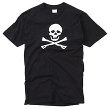 цены Skull And Crossbone Printed T-shirt 100% Cotton Print T-Shirt Mens Short Tee Shirt Homme Tshirt Men Funny Fashion Classic