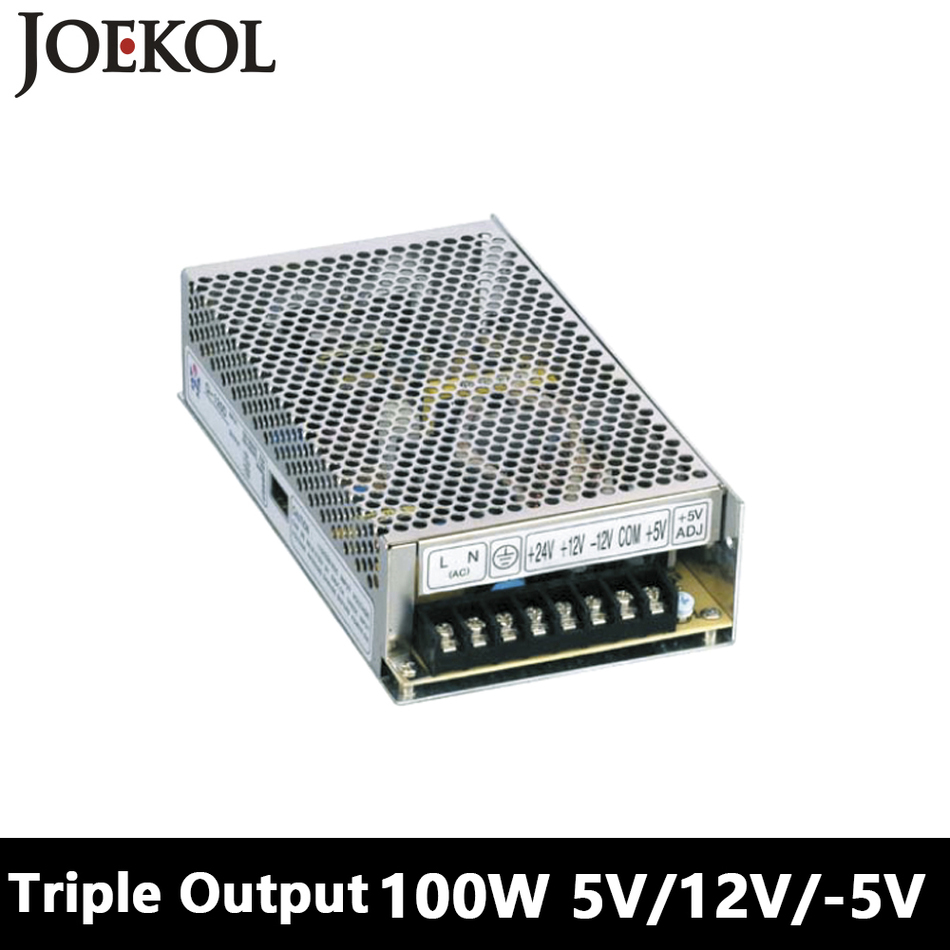 Triple Output Switching Power Supply 100W 5V 12V -5V,Ac Dc Converter For Led Strip Light,110V/220V Transformer To DC 5V/12V/-5V 201w led switching power supply 85 265ac input 40a 16 5a 8 3a 4 2a for led strip light power suply 5v 12v output