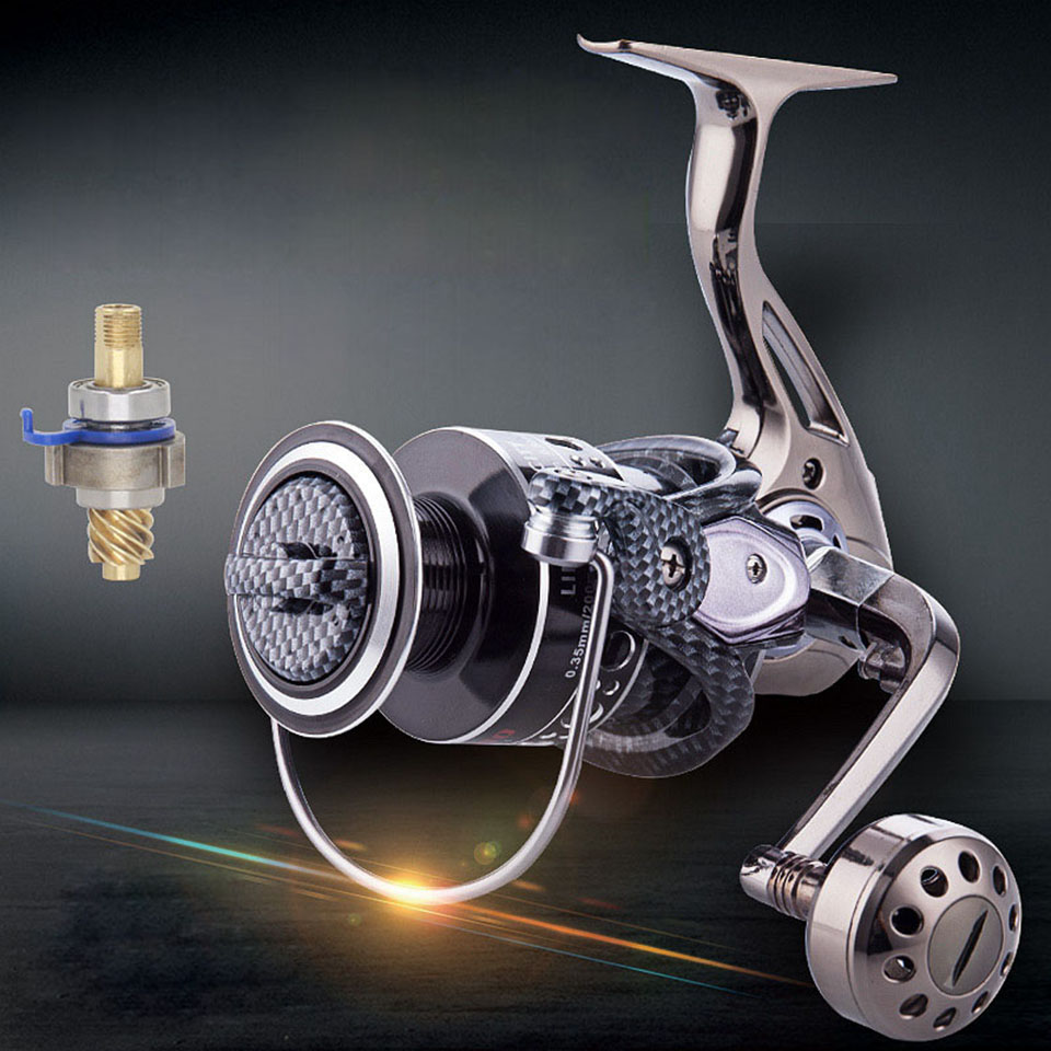 New Metal carretilha pesca Fishing Reel Spinning Carpfishing Wheel 12+1BB 5.2:1 High Quality moulinet peche