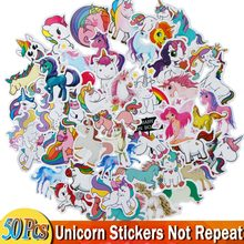 35/50 Pcs Unicorn Stickers Cartoon Animal Light National Flag Waterproof Diy Sticker for Luggage Bike Notebook Car Laptop Decals(China)