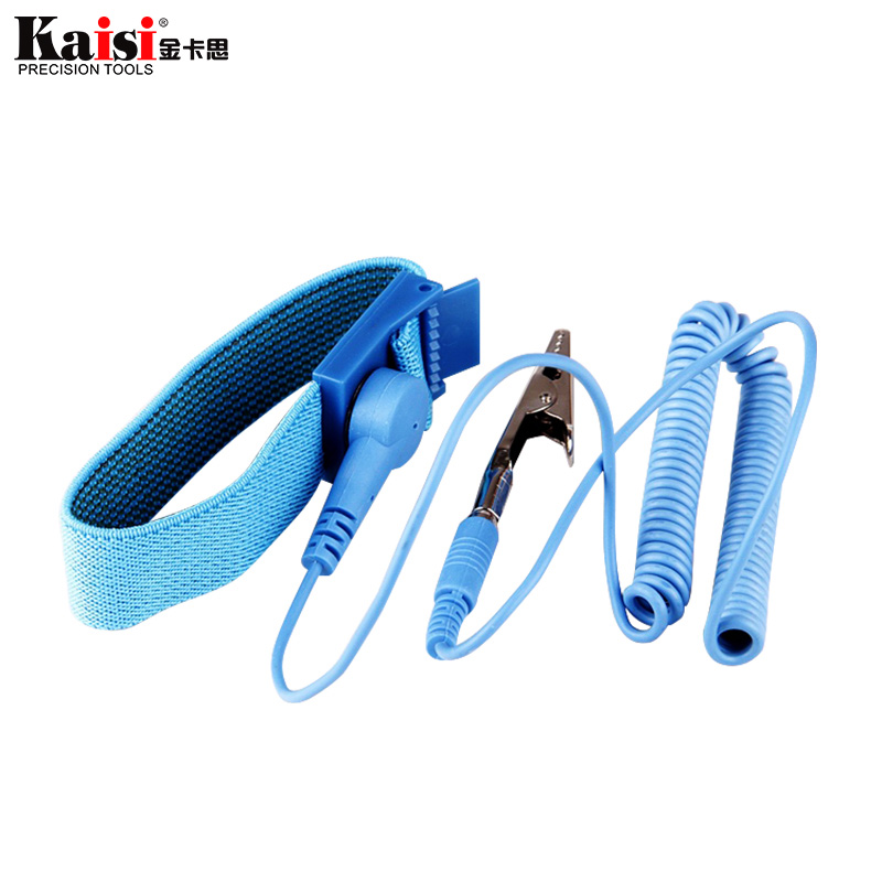 Kaisi Anti Static ESD Wrist Strap Elastic Band With Clip For Sensitive Electronics Repair Work Tools