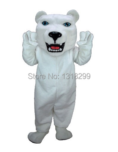 mascot Polar Bear mascot costume white bear fancy dress fancy costume cosplay theme mascotte carnival costume kits