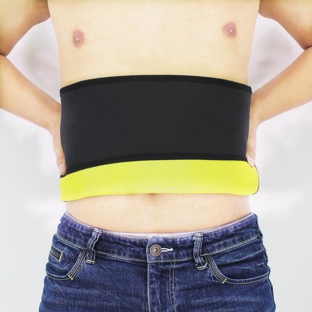 Men's Body Shapers Belt Sweat Sauna Neoprene Running Fitness Sports New Waist Trainer Control Corset Slimming Belt Waist Trimmer 1