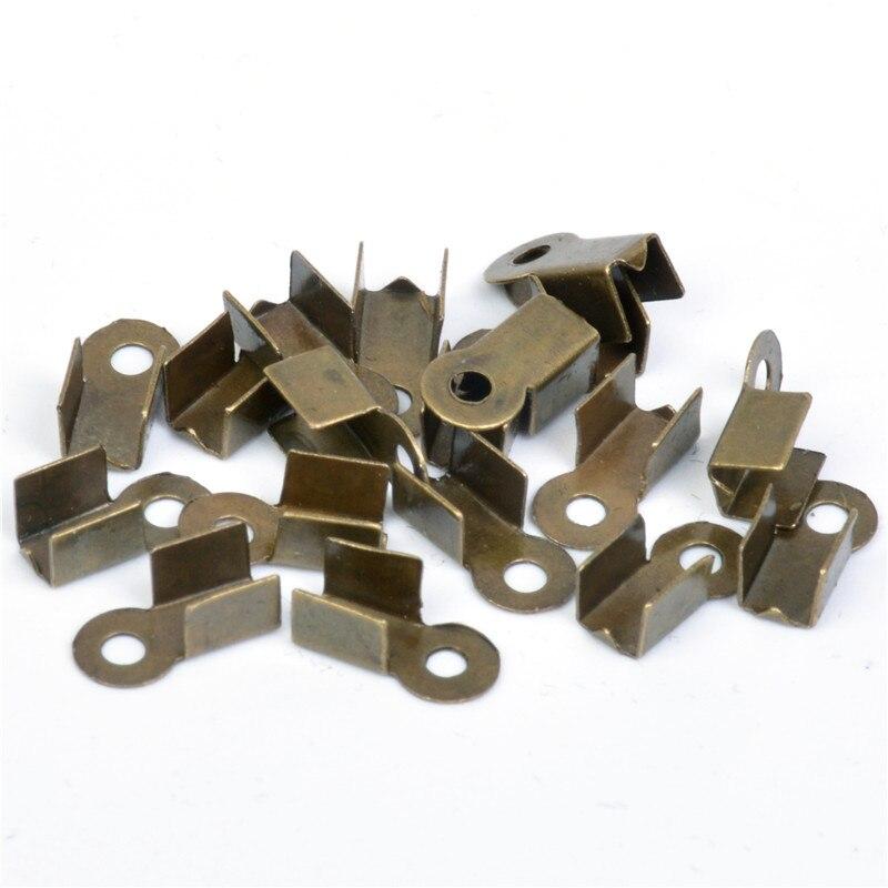 wholesale 200 Pieces Lot silver Plated 6mmx4mm cord end crimp clip