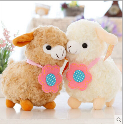 1pcs 20cm Hot cartoon Lovely Flower Alpaca Sheep Plush Stuffed Toy Room Decoration Fashion creative fill plush toys Child gifts цена и фото