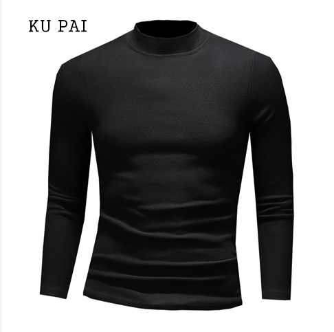 2017 autumn and winter new mens high collar sweater Korean Slim long-sleeved sweater solid color knit shirt