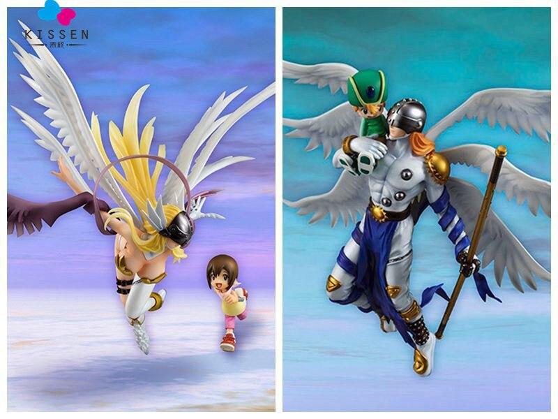 ФОТО Kissen Japan Anime Original Megahouse G.E.M Series Digimon Adventure Angewomon & Yagami Hikari PVC Action Figure