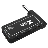 Xvive Metal Guitar Micro Amp Gain Tone Volume Controls Lightweight Headphone Amp Portable Electric Guitar Amplifier