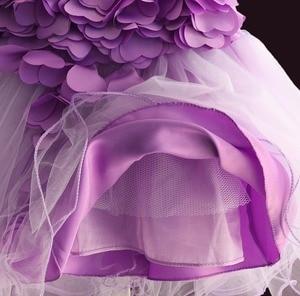 Image 5 - Nowa koronkowa sukienka dla dziewczynek płatek kwiatu szyfonowa sukienka dla księżniczki 1 rok dla dzieci dziewczyny suknie urodzinowe boże narodzenie Vestido 3 M 4 T