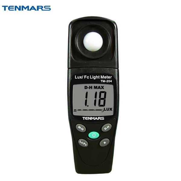 TM-204 Digital Light Meter LUX and FC Ligth Meter bside elm02 professional digital light meter lux fc light meter