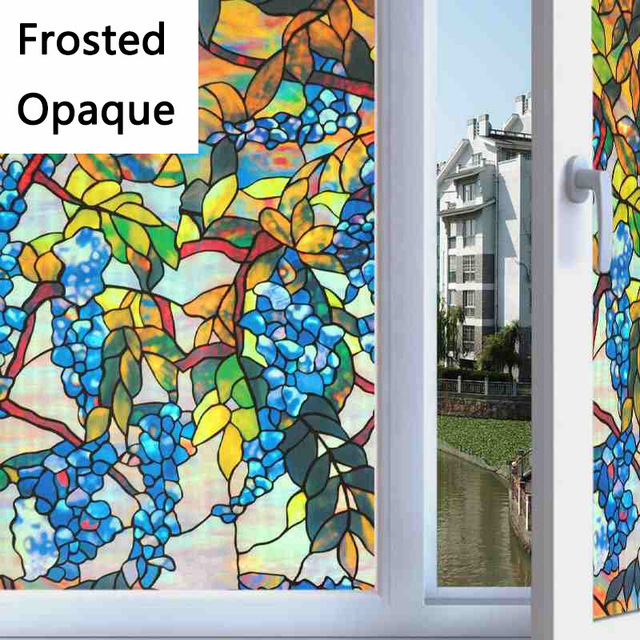 coloured window film patterned static electricity window film light transmissive opaque frosted explosionproof bathroom sunscreen coloured print