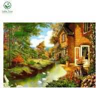 Free Shipping 2017 NEW DIY 3D Diamond Painting Crystal Art Craft Household And Gift Items Sewing Rhinestones Landscape House