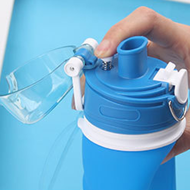 750ML Silicone Folding Water Bottle Outdoor Sports Supplies Portable Water Bottles Convenient Travel Anti-scalding Botellas